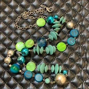 Chico's Sirens Seas Beaded Statement Necklace